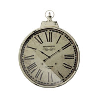 Kensington Station with Antique Cream Metal Frame Antique Cream and Black Clock