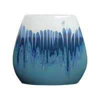 Sterling Industries Ceramic Glazed Vase in Ice Cap 119-012 photo thumbnail