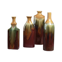 Sterling Industries Set Of 4 Glazed Ceramic Jars Vase in Pewit 119-014 photo thumbnail