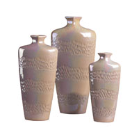 Sterling Industries Set Of 3 Ceramic Vases in Pearlescent Cream 119-027