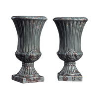 Sterling Industries Set Of 2 French Reproduction Ceramic Vases in Alto Grey 119-033
