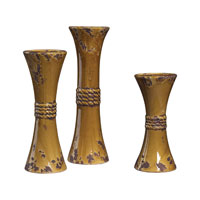 Sterling Industries Set Of 3 Ceramic Candle Holders Vase in Dijon 119-038 photo thumbnail