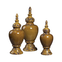 Sterling Industries Set Of 3 Ceramic Jars Decorative Accessory in Dijon 119-039