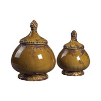 Sterling Industries Set Of 2 Ceramic Jars Decorative Accessory in Dijon 119-040