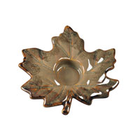 Sterling Industries Ceramic Leaf Tea Light Decorative Accessory in Anapolis Autumn Rust 119-042