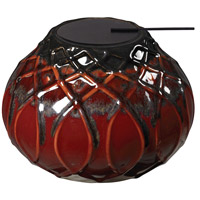 Sterling Industries Ceramic Tea Light Decorative Accessory in Mococca Red Glaze 119-044