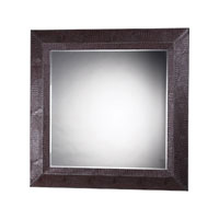 Sterling Industries Barton Mirror in Chocolate Faux Croc 120-004 photo thumbnail