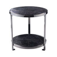 Faux Crox 20 X 20 inch Black Faux Croc Coffee Table Home Decor