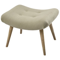 Enterprise Lotus Natural Linen and Reclaimed Oak Ottoman