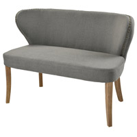 Dorian Grey Linen and Reclaimed Oak Loveseat