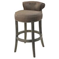 Saloon 36 inch Taupe and Dark Wood Bar Chair