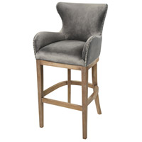 Roxie Grey and Reclaimed Oak Bar Chair Home Decor