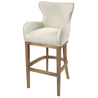 Roxie 43 inch Cream and Reclaimed Oak Bar Chair