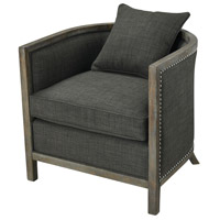Five Boroughs Brown and Grey with Forest Floor Linen Club Chair Home Decor