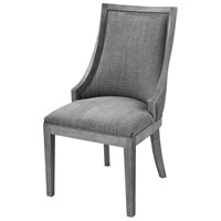 Cupertino Reclaimed Grey Wood And Grey Chenille Side Chair