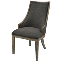 Five Boroughs Brown and Grey with Forest Floor Linen Side Chair