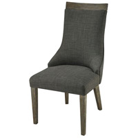 Five Boroughs Brown and Grey with Forest Floor Linen Dining Chair Home Decor