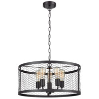 Grange 5 Light 21 inch Oil Rubbed Bronze Chandelier Ceiling Light