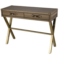 Wanderlust 43 inch Gold Plate And Metallic Gold Console Table Home Decor