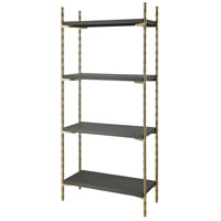 Sterling 1218-1015 Grand 71 X 33 X 14 inch Grey Faux Leather/Gold-plated Stainless Steel Shelf