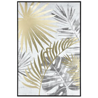 Sterling 1219-021 Coconut Grove White and Grey with Gold Wall Art