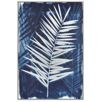 Key Biscayne Blue and White with Silver Wall Art