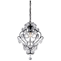 Sterling Industries Black Framed And Clear Crystal Mini Pendant Lamp 122-005