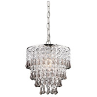 Sterling Industries Teak And Clear Crystal Pendant Lamp 122-006