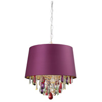 Purple Drum 1 Light 14 inch Pendant Ceiling Light
