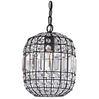 Sterling 122-013 Maldon 1 Light 8 inch Clear Crystal/Dark Bronze Mini Pendant Ceiling Light