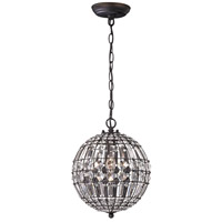 Sterling Signature 1 Light Pendant in Dark Bronze 122-015
