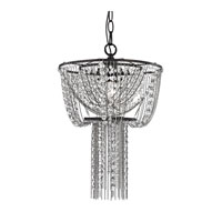 Sterling Beaded 1 Light Pendant in Dark Bronze 122-019