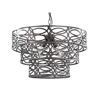 Sterling Laser Cut 3 Light Pendant in Dark Bronze 122-020
