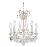 Signature 5 Light 14 inch Antique Cream Mini Chandelier Ceiling Light