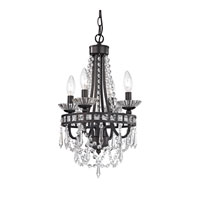 Signature 4 Light 11 inch Dark Bronze Mini Chandelier Ceiling Light