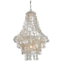 Sterling 122-025 Mother of Pearl 1 Light 18 inch White Pendant Ceiling Light