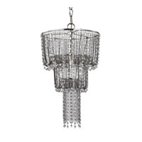 Sterling Beaded 1 Light Pendant in Nickel 122-027