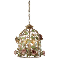 Sterling 123-006 Iron Cage 3 Light 13 inch Pendant Ceiling Light