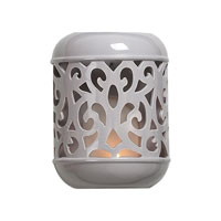Sterling Industries Grey Ceramic Candle Sconce Decorative Accessory in Grey Glaze 125-022