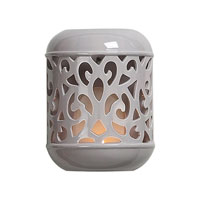Sterling Industries Grey Ceramic Candle Sconce Decorative Accessory in Grey Glaze 125-023