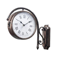 Sterling Industries Antique Double Sided Wall Clock in Bronze 125-035