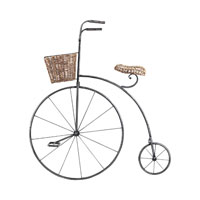 Sterling Industries Bicycle Wall Art in Black Iron And Wicker 125-039