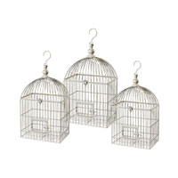 Sterling Industries Vintage Decorative Bird Cage Decorative Accessory in White 125-045