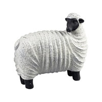 Sterling Industries Resin Sheep Decorative Accessory in Black / White 125-049 photo thumbnail