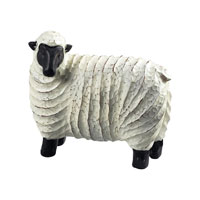 Sterling Industries Resin Sheep Decorative Accessory in Black / White 125-050