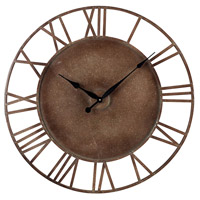 Sterling Industries Metal Roman Numeral Outdoor Wall Clock in Parity Bronze 128-1002