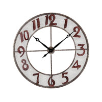 Sterling Industries Metal Outdoor Wall Clock in Rengo 128-1003