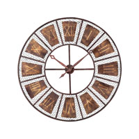 Sterling Industries Wooden Outdoor Wall Clock in Progresso Bronze 128-1011
