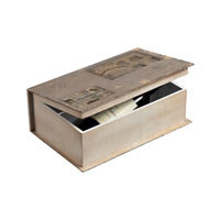 Sterling Industries Wine Holder Book Box Decorative Accessory in Garron Grey Linen 128-1017
