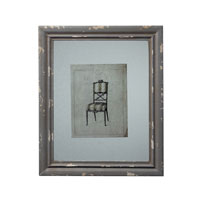 Sterling Industries Distressed Grey Picture Frame With Antique Chair Print Decorative Accessory in Galloway Grey 128-1029